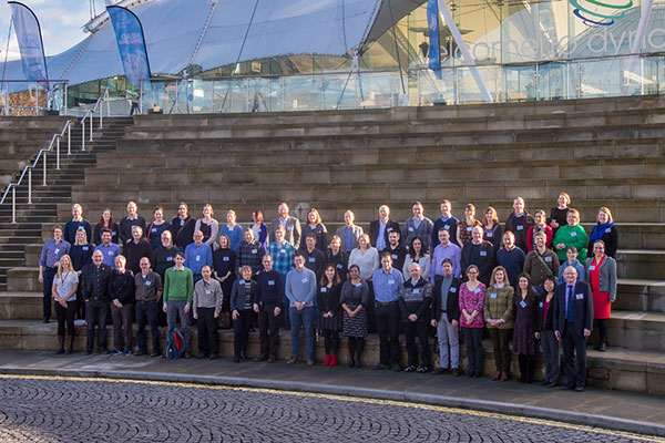 Lyell Research Connect participants at Dynamic Earth, Edinburgh