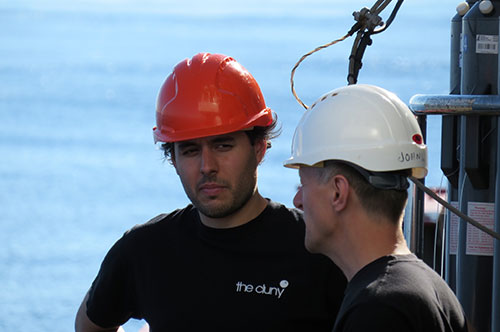 Ryan Pereira at sea